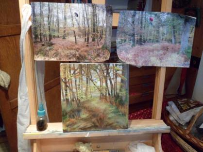 Collection of mixed media paintings by Jan Sears