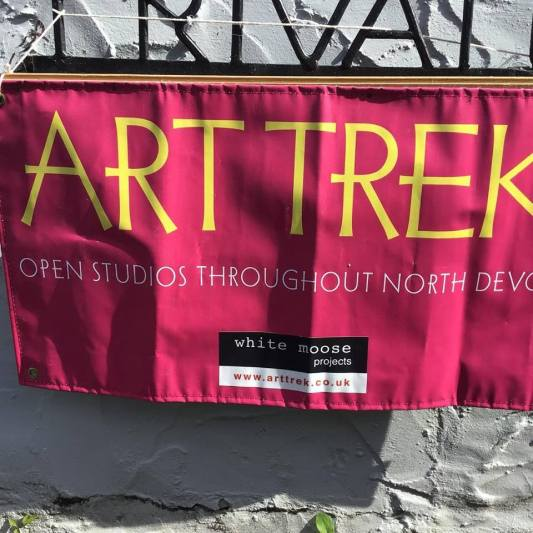 Art trek poster outside